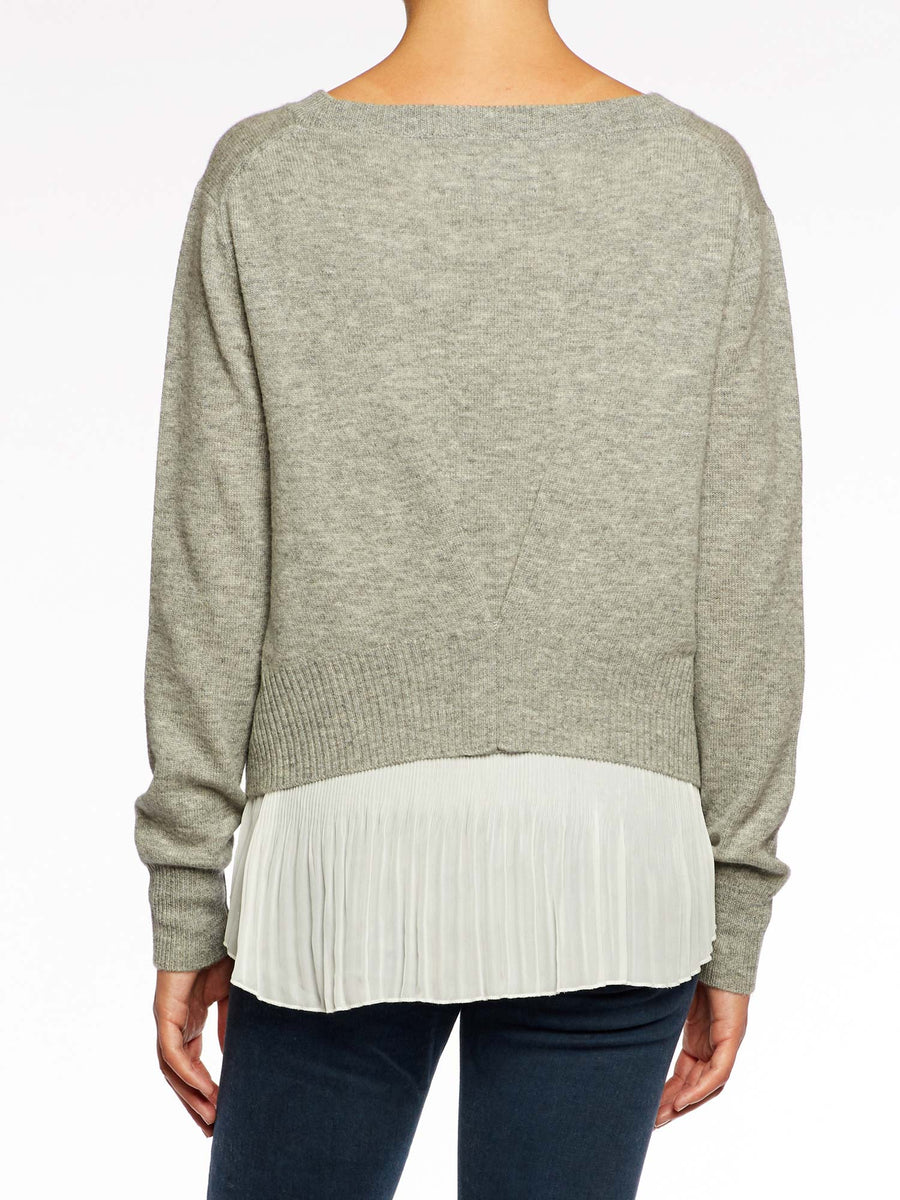 The Layered Plisse Pullover