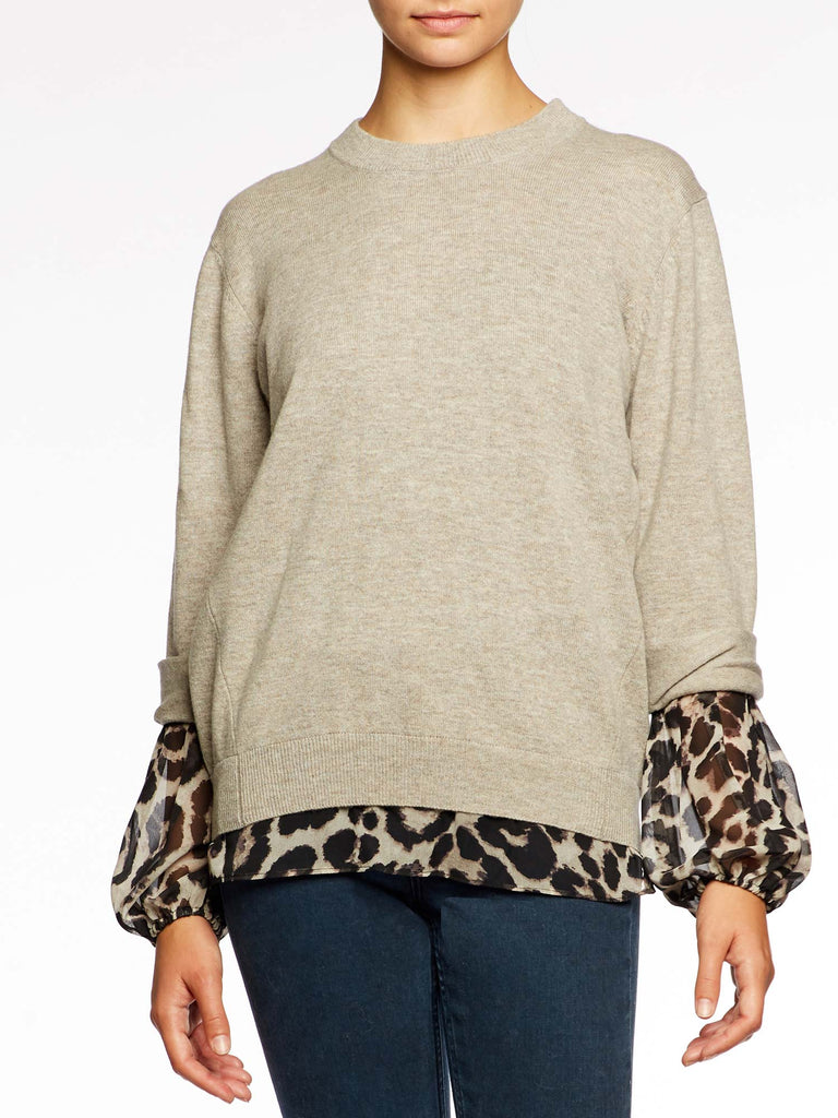 The Layered Print Sweatshirt