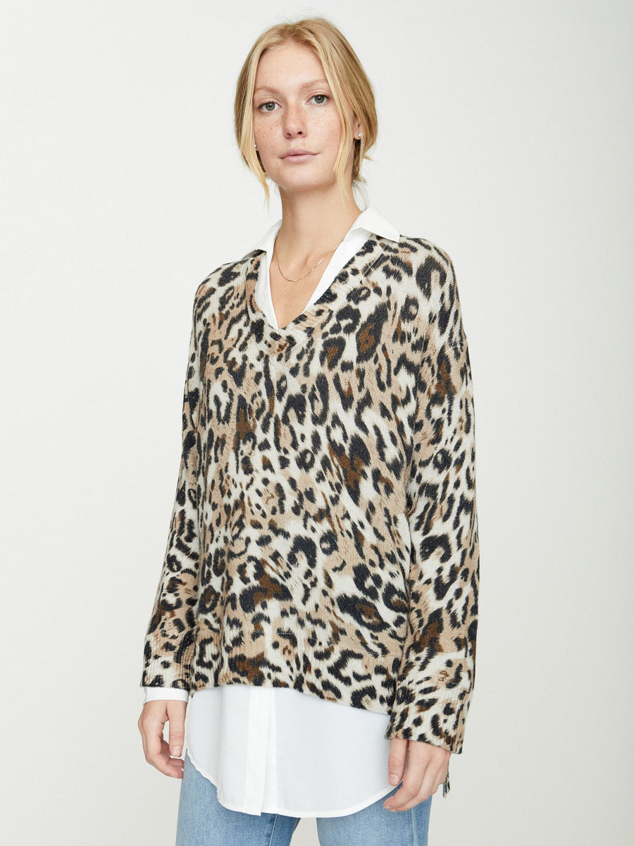 The Printed Layered V-neck