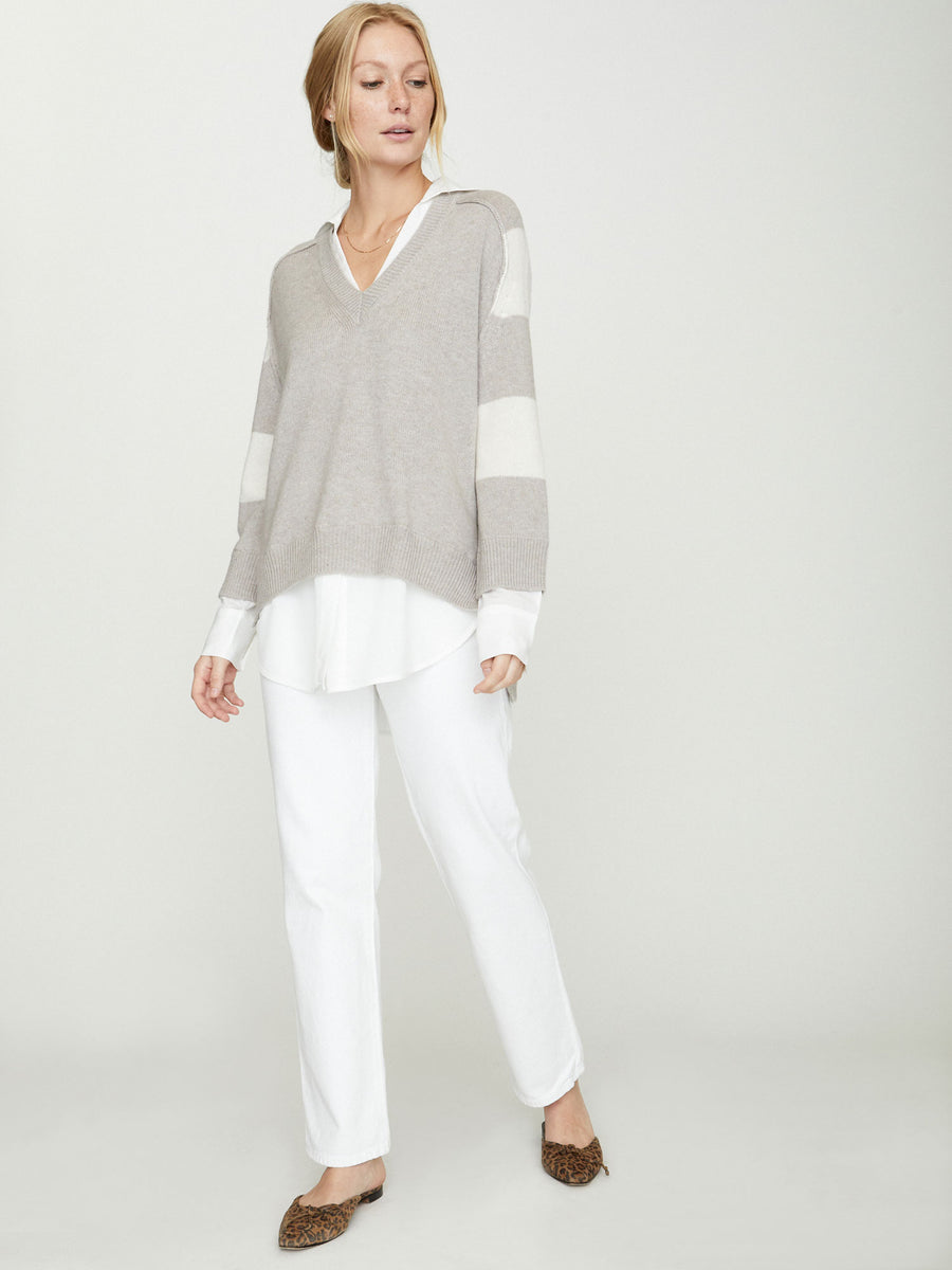 The Looker Striped Layered V-Neck
