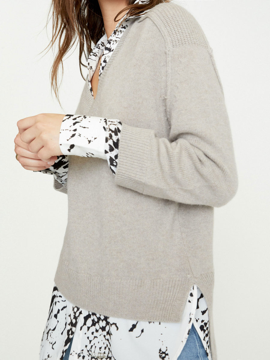 The Looker Printed Layered V-Neck