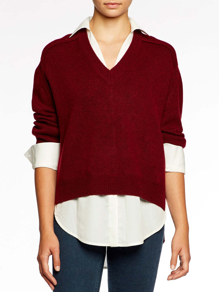 The Vneck Layered Pullover