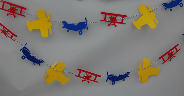 Airplane Party Garland, Plane Party Decor, Airline Birthday Banner