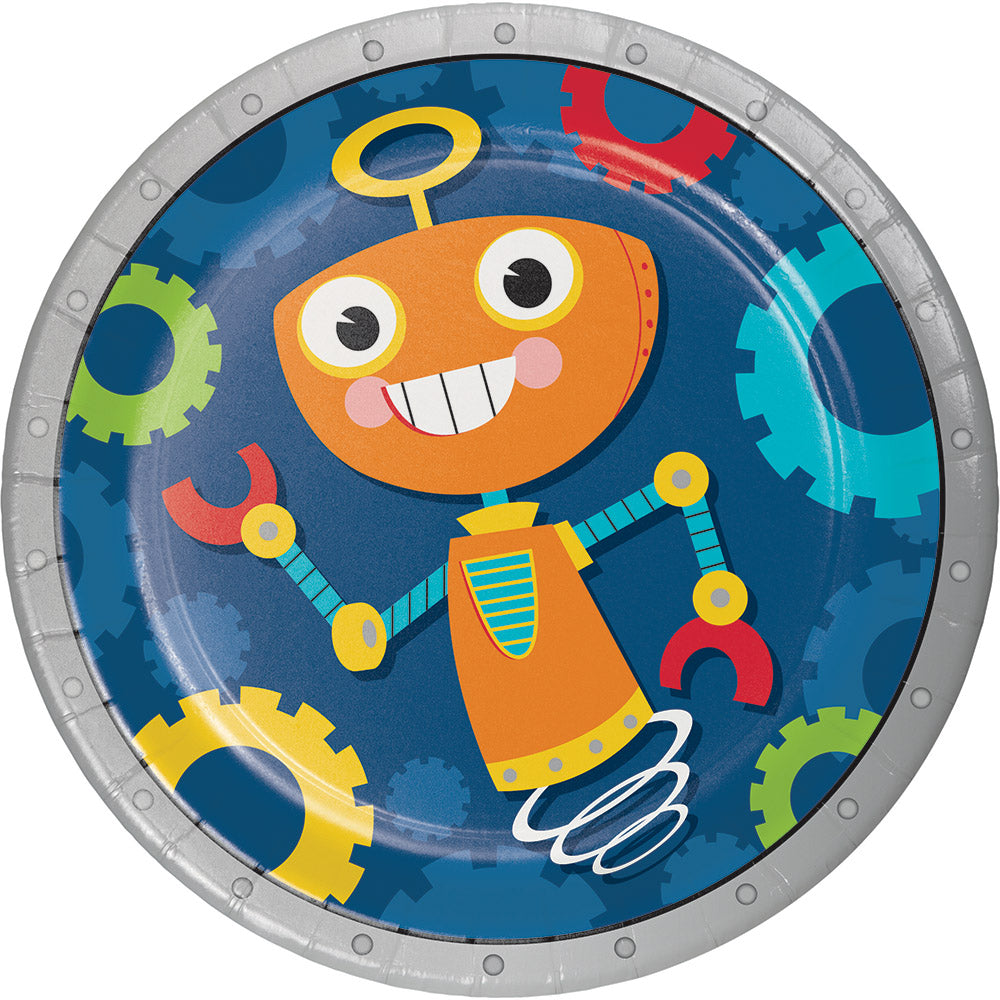 ... Robot Party Dessert Paper Plates ...  sc 1 st  We Bring the Party & Robot Party Dessert Paper Plates u2013 We Bring the Party
