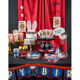 Magic Party Plastic Tablecloth, Magic Show Party Table Cover, Magician Dinnerware, Disposable Table Cloth