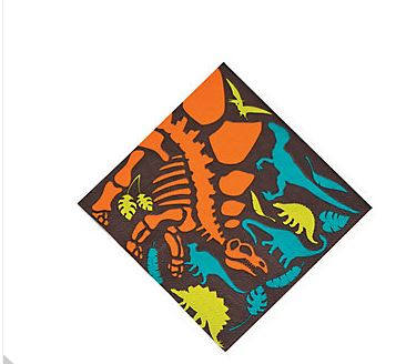 Dino Dig Paper Napkins, Dinosaur Party Beverage Napkins, Dinosaur Party