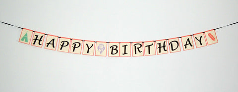 Boho Girl Birthday Banner, Wild Child Birthday, Wild One Party, Teepee Birthday
