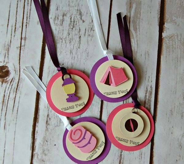 Glamping Theme Birthday Party Favor Tags (set of 12) - We Bring the Party