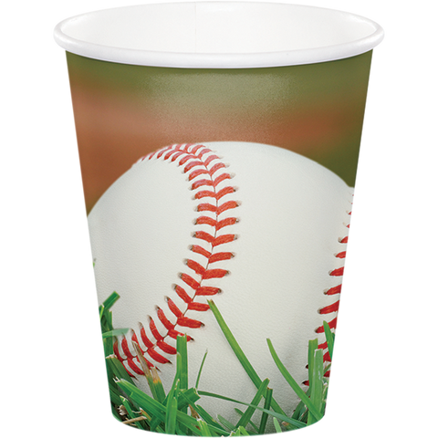 Baseball Paper Cups, Little League Paper Cups, T-ball Dinnerware