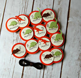 Dinosaur Silhouette Birthday Photo Banner Clips with Ribbon - We Bring the Party - 1