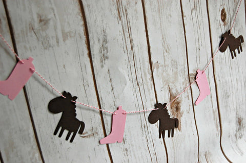 Cowgirl Garland, Western Party Banner, Photo Prop, Backdrop Decoration