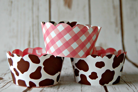Cowgirl Hide  Cupcake Wrappers (set of 6) - We Bring the Party