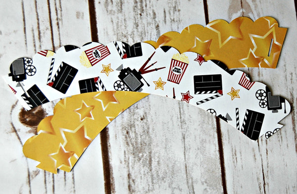 Movie Cupcake Wrappers  (set of 6) - We Bring the Party - 1