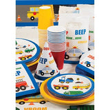 Traffic Jam Dessert Plates, Cars and Trucks Paper Plates, Vehicles Dinnerware, Luncheon Plates