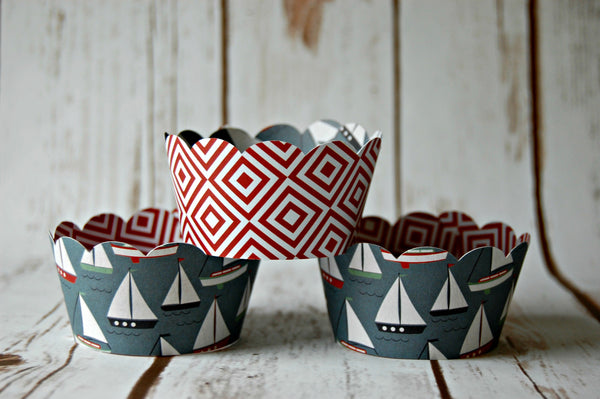 Boat Themed Cupcake Wrappers - We Bring the Party - 1
