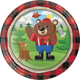 Lum-Bear-Jack Beverage Napkins, Lumberjack Party Paper Napkins, Hunting Party Dinnerware, Dessert Napkins