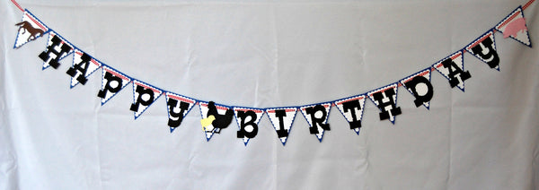 Vintage Chic Farmer's Party Banner, Farm Birthday Banner - We Bring the Party - 1