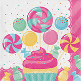 Candy Bouquet Plastic Tablecover, Candy Party Table Cloth, Candyland Party Dinnerware, Disposable Tablecloth