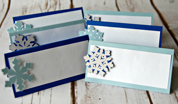 Snow Flake Theme Name Cards - We Bring the Party