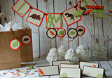 Dinosaur Silhouette Birthday Photo Banner Clips with Ribbon - We Bring the Party - 3