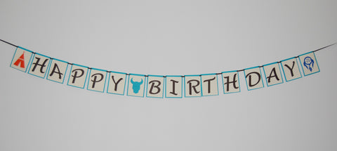 Boho Boy Birthday Banner, Wild Child Birthday, Wild One Party, Teepee Birthday