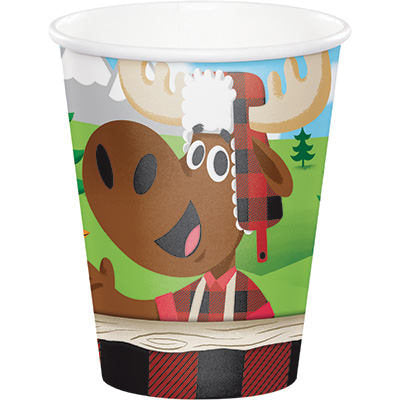 Lum-Bear-Jack Cups, Lumberjack Party Paper Cups, Hunting Party Dinnerware, Disposable Cups