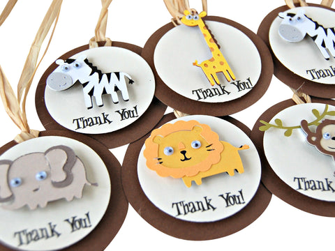 Zoo Favor Tags - We Bring the Party - 1