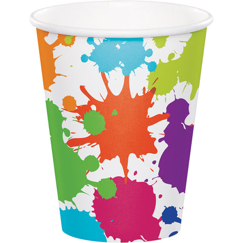Art Party Paper Cups, Little Artist Theme Cups, Paint Colors Disposable Cups, Craft Party Dinnerware(set of 8)