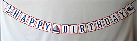 Nautical Happy Birthday Banner
