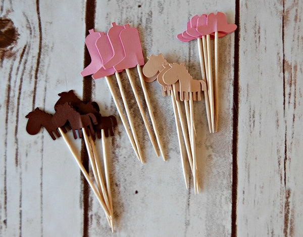 Cowgirl Party Picks (Set of 24) - We Bring the Party