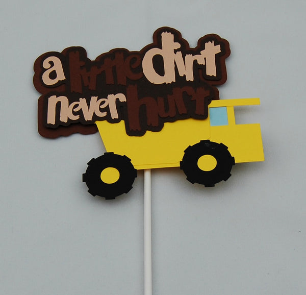 Construction Truck Birthday Party Cake Topper, Dump Truck Birthday Party Decorations