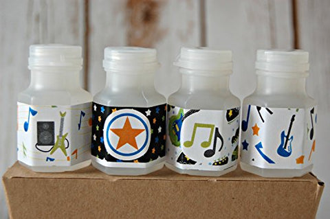 Rock Band Theme Party Bubbles, Party Favor Bubbles, Rock and Roll Party Favor (set of 12)