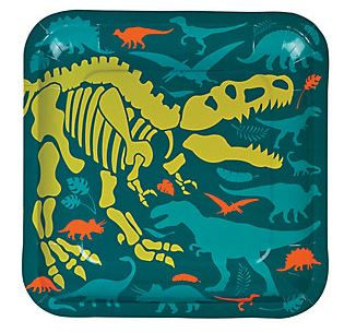 Dino Dig Dinner Plates, Dinosaur Party Plates, Dinosaur Party