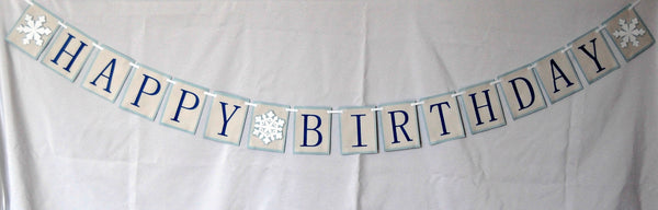 Snow Flake Party Theme Banner - We Bring the Party