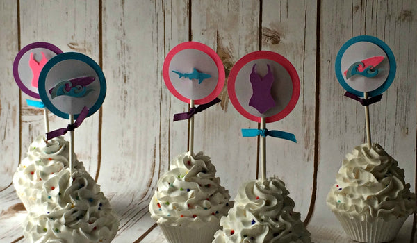 Girl Surf Cupcake Toppers - We Bring the Party - 1