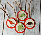 Dinosaur Silhouette Themed Birthday Party Favor Tags (12) - We Bring the Party - 1