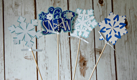 Snow Flake Party Theme Centerpiece - We Bring the Party