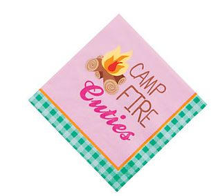 Glamping Party Beverage Napkins, Glam Camping Dessert Napkins, Girl Camp Out Party