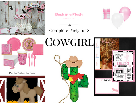 Complete Cowgirl Party for 8 kids - We Bring the Party - 1