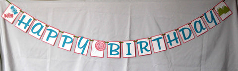 Candy Party Theme Happy Birthday Banner - We Bring the Party