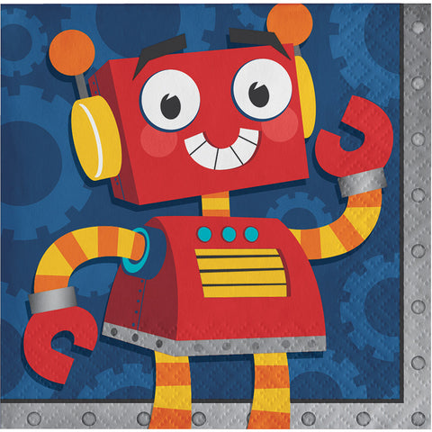 Robot Party Paper Beverage Napkins