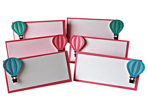 Hot Air Balloon Name Cards (Set of 6)