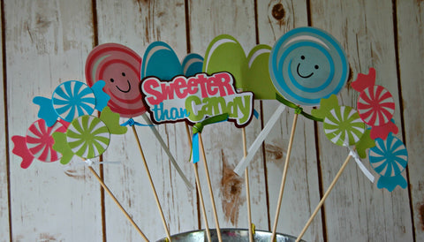 Candy Party Theme Centerpiece Set - We Bring the Party