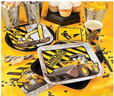 Construction Birthday Dessert Plates, Big Trucks Party Paper Plates, Workman Dinnerware, Luncheon Plates