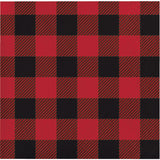 Buffalo Plaid Beverage Napkins, Lumberjack Party Paper Napkins, Hunting Party Dinnerware, Dessert Napkins