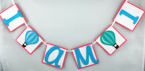 Hot Air Balloon Mini Banner