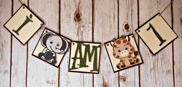 Baby Zoo Animals Mini Banner - We Bring the Party