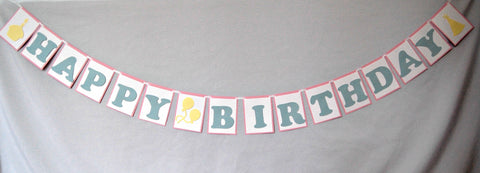Birthday Basics: Pastel, Happy Birthday Banner