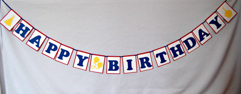 Birthday Basics: Primary, Happy Birthday Banner