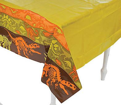 Dino Dig Plastic Tablecover, Dinosaur Party Tablecloth, Dinosaur Party Table Cloth